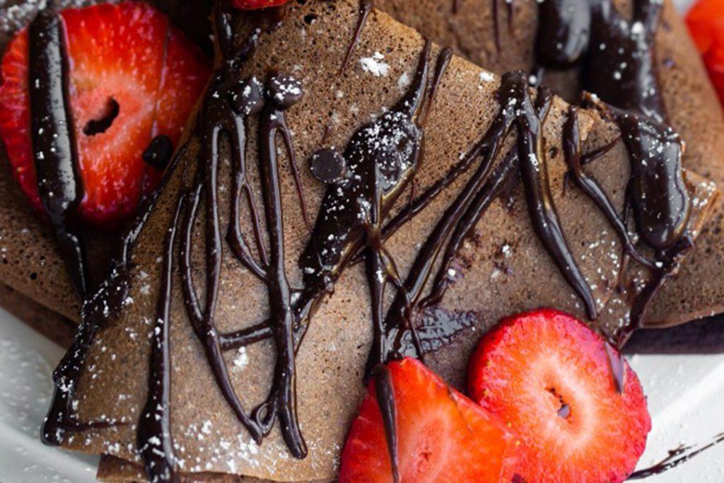 crepes con masa de cacao