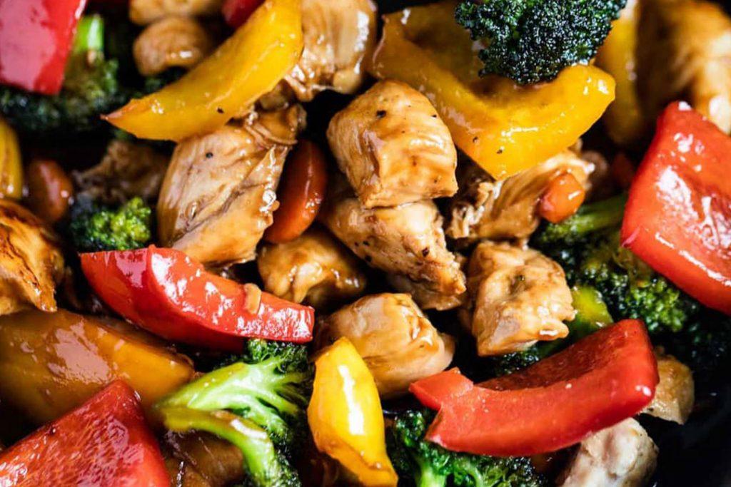 crepes de pollo con verduras