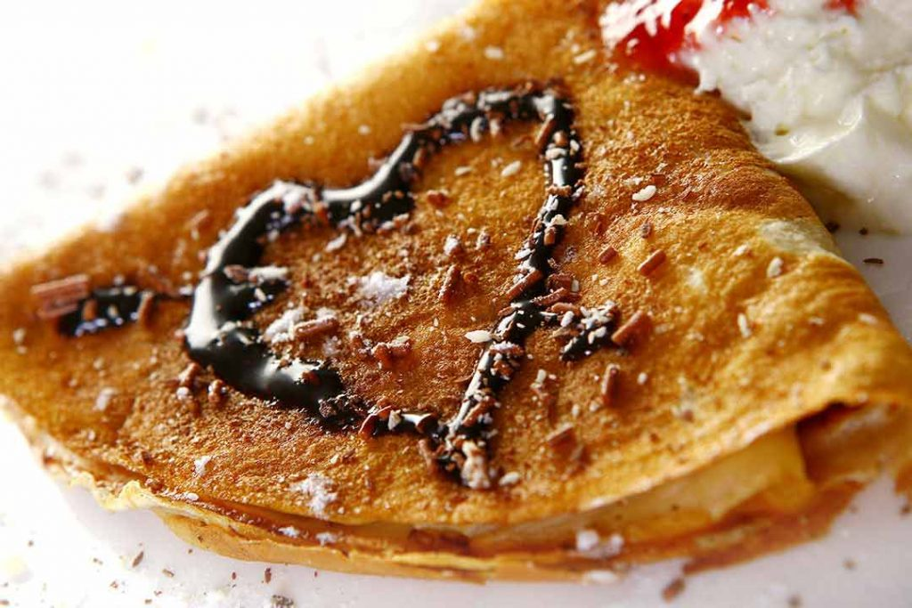 crepes dulces con chocolate